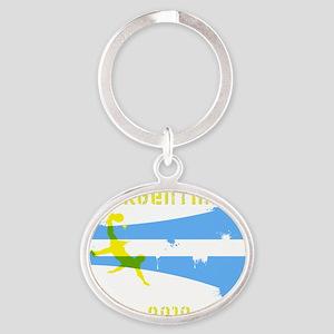 Argentina copy Oval Keychain