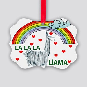 lalalallama Picture Ornament