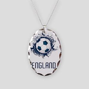 England Football3 Necklace Oval Charm