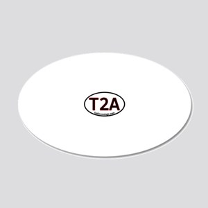 T2A_Military_Hat_223_H_F cop 20x12 Oval Wall Decal