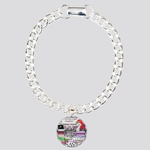 comehomedaughter3x3bearr Charm Bracelet, One Charm