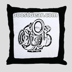 BoostGear - Cartoon Turbo - Black Shi Throw Pillow