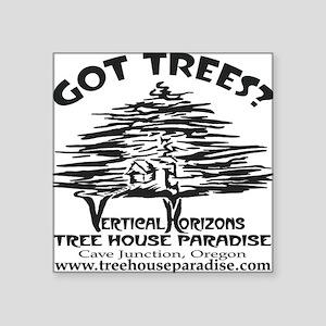 "BLACK-LOGO-got-trees-copy-2 Square Sticker 3"" x 3"""