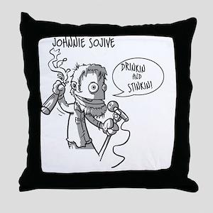 johnnie_cafeP_BW Throw Pillow