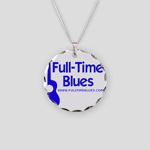 2-full-time blues-logo-large Necklace Circle Charm