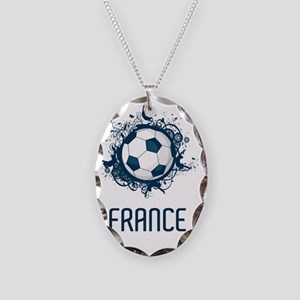 France World Cup3 Necklace Oval Charm