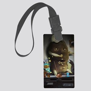 Couch Potato Large Luggage Tag