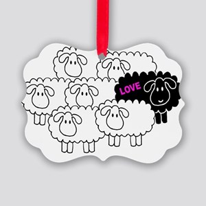 Black Sheep Picture Ornament