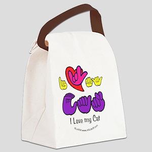 I_Love_CatFSbbt Canvas Lunch Bag