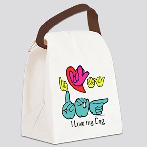I_Love_DogFS Canvas Lunch Bag