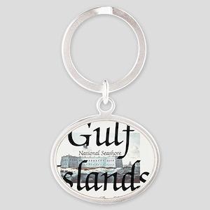 gulfislandsns Oval Keychain