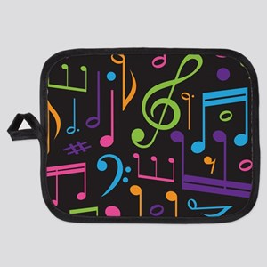 Music Gift Treble Clef Musical Notes Potholder