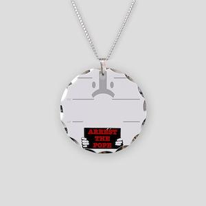 arrestpope_black Necklace Circle Charm
