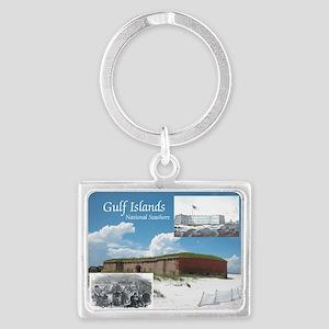 gulfislandsns1 Landscape Keychain