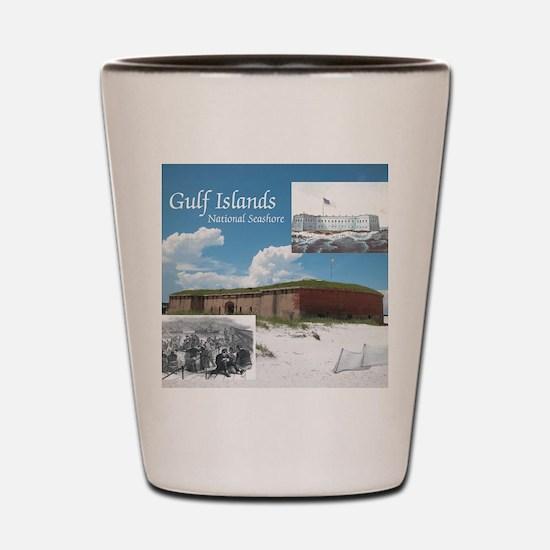 gulfislandsns1 Shot Glass