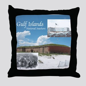 gulfislandsns1 Throw Pillow