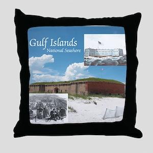 gulfislandsns1 Throw Pillow