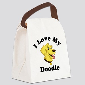 I-Love-My-Doodle Canvas Lunch Bag