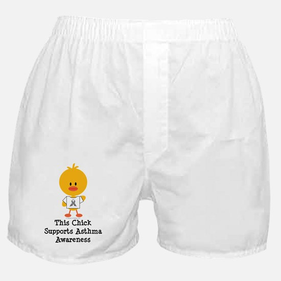 AsthmaAwarenessRibbonChick Boxer Shorts