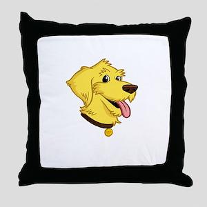 2-I-Love-My-Doodle-dark Throw Pillow