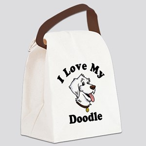 I-Love-My-Doodle-Light Canvas Lunch Bag