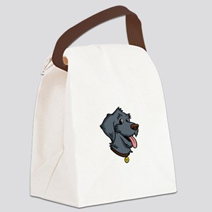 I-Love-My-Doodle-Black-dark Canvas Lunch Bag