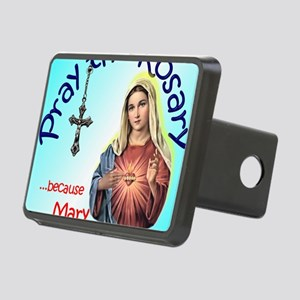pray_mouse_blue_oval Rectangular Hitch Cover
