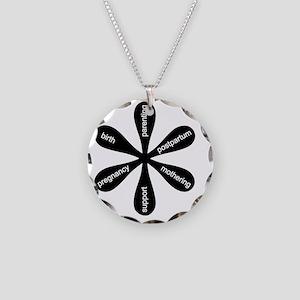 MamaFlowerBW Necklace Circle Charm