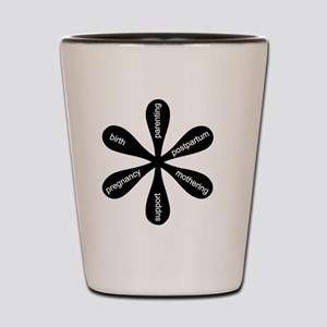 MamaFlowerBW Shot Glass