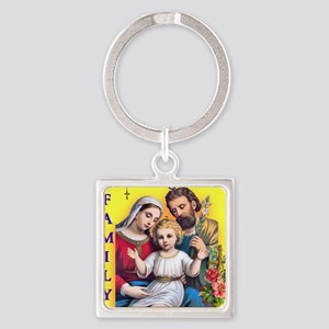 tote_family_pray Square Keychain