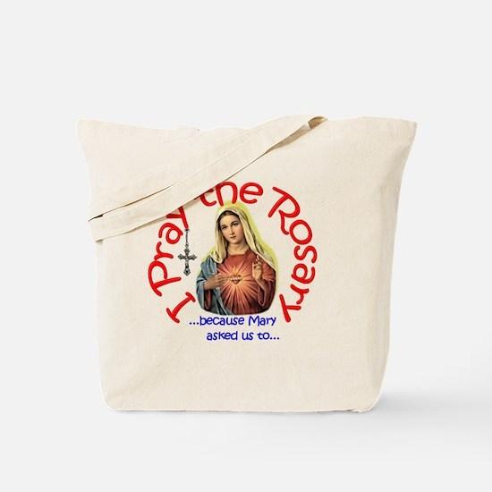 pray_button_6x6_white_slant Tote Bag