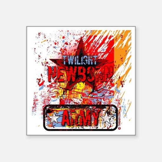 "twilight newborn army grung Square Sticker 3"" x 3"""