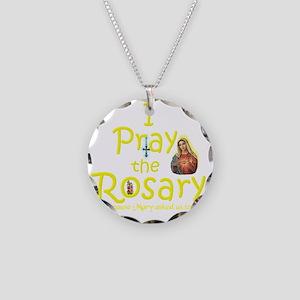 2-pray_10x10_yellow Necklace Circle Charm