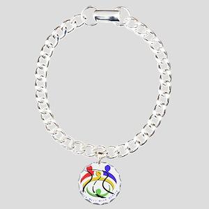 2-RLS Charm Bracelet, One Charm
