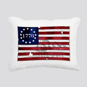 1776_american_flag_old c Rectangular Canvas Pillow