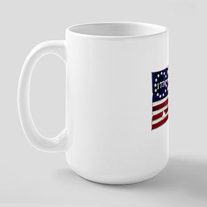 1776_american_flag_old copy Large Mug