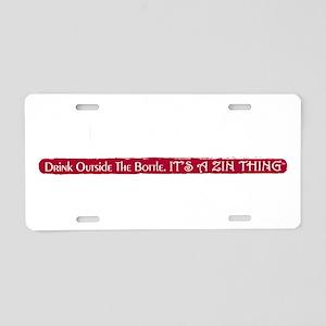 ImaZinner_0410blk Aluminum License Plate