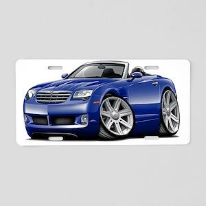 Crossfire Blue Convertible Aluminum License Plate