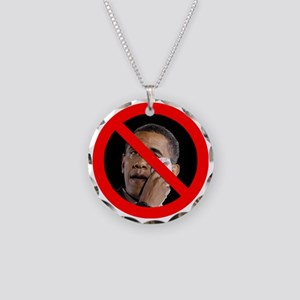 Anti-Obama Necklace Circle Charm