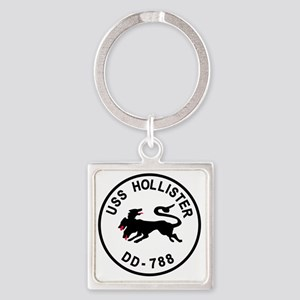 uss_hollister Square Keychain