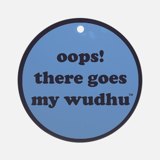 wudhu_blues Round Ornament
