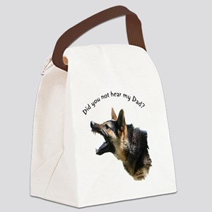 hear my dad trans background Canvas Lunch Bag