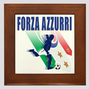 forza azzurri aa Framed Tile