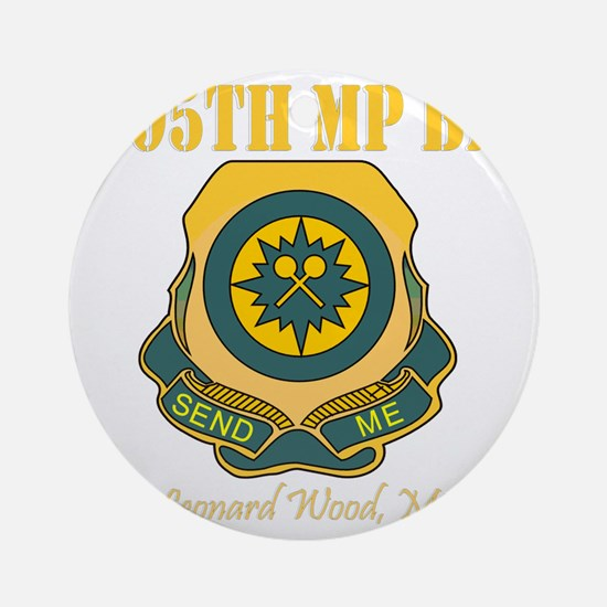 795thMPBNFLWTBlack.gif Round Ornament