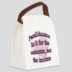 paraed purple copy Canvas Lunch Bag