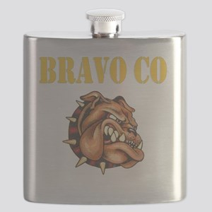 bravo co bulldog black Flask