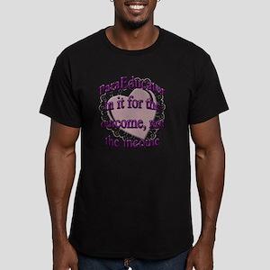 paraed purple copy Men's Fitted T-Shirt (dark)