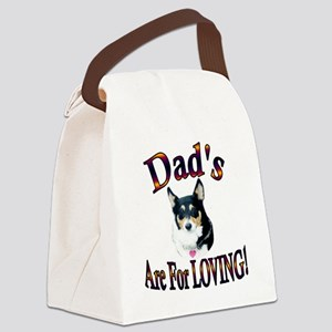 Dads Are For Loving Blk Tri Canvas Lunch Bag