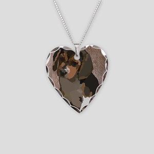 Beagl1 bag Necklace Heart Charm