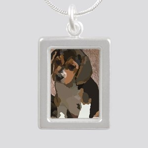 Beagl1 bag Silver Portrait Necklace